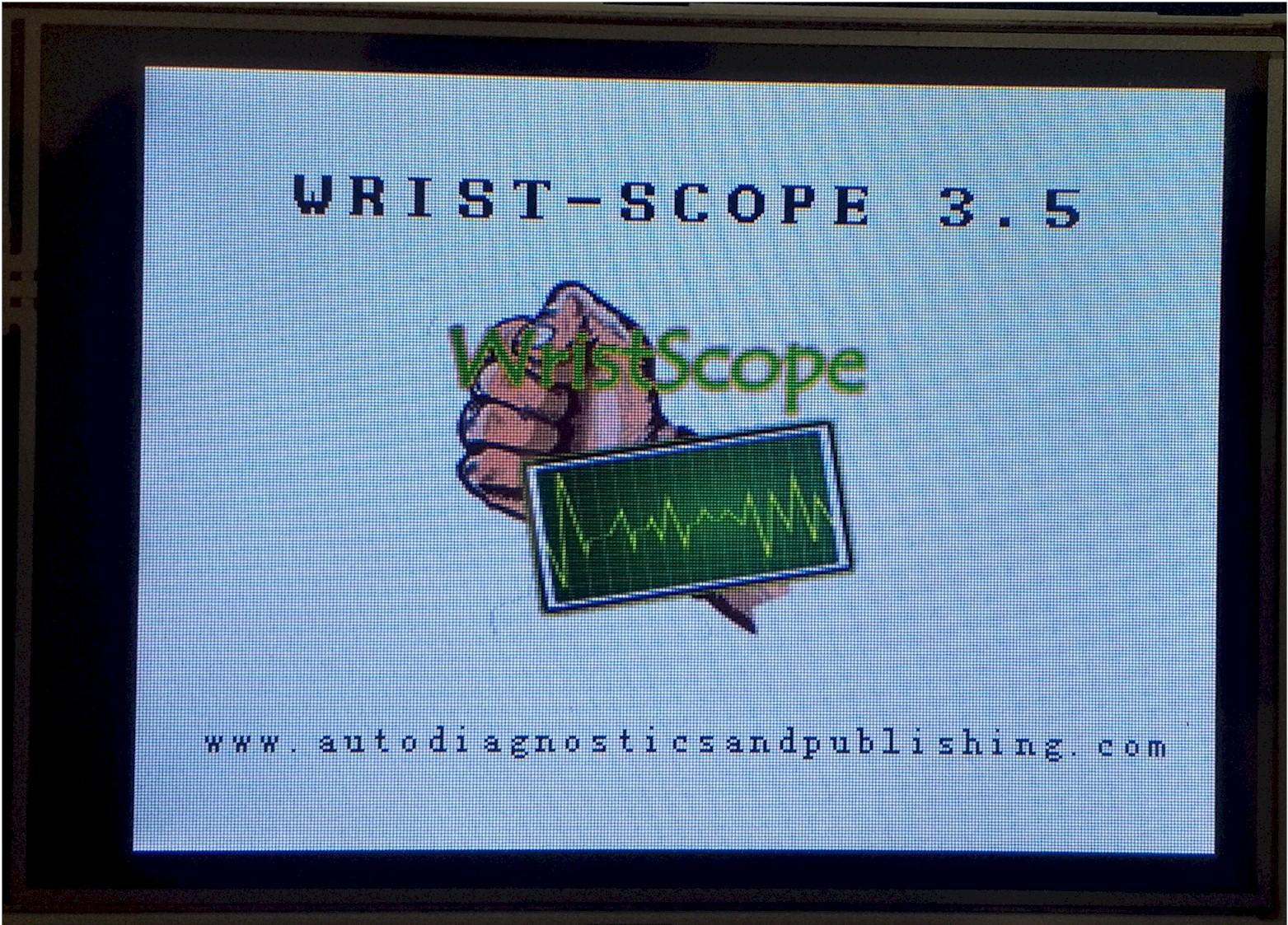 WristScope intry screen