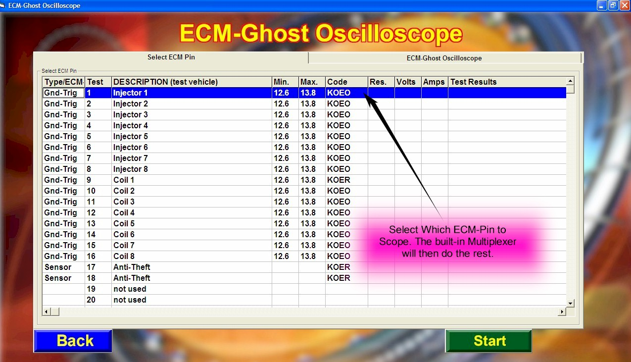 ecm ghost screen